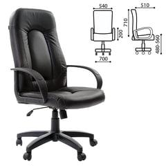 """Кресло офисное BRABIX """"Strike EX-525"""", экокожа черная"""