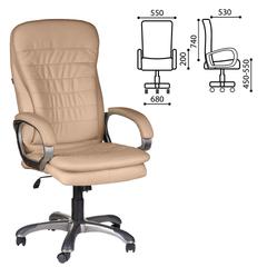 """Кресло офисное BRABIX """"Omega EX-589"""", экокожа, песочное"""