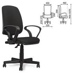 """Кресло оператора BRABIX """"Basic MG-310"""", с подлокотниками, черное, JP"""