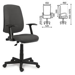 """Кресло оператора BRABIX """"Basic MG-310"""", с подлокотниками, серое, KB"""