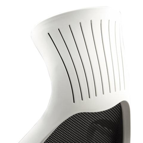 Кресло офисное BRABIX Genesis EX-517, пластик белый, ткань/экокожа/сетка черная