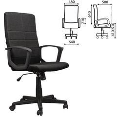 """Кресло офисное BRABIX """"Focus EX-518"""", ткань, черное"""