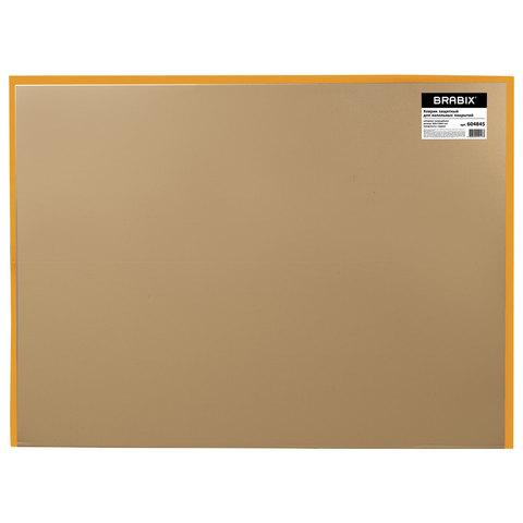 Коврик защитный для напольных покрытий BRABIX, поликарбонат, 90х120 см, глянец, толщина 1 мм